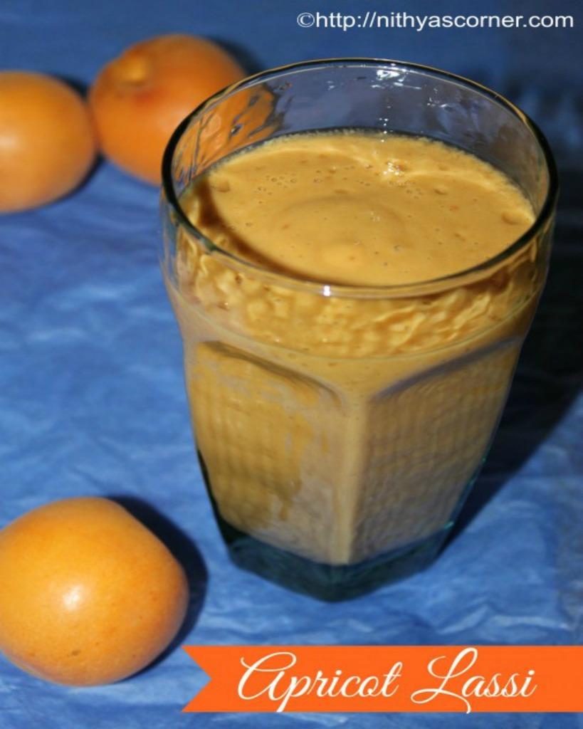 simple, easy, delicious apricot lassi
