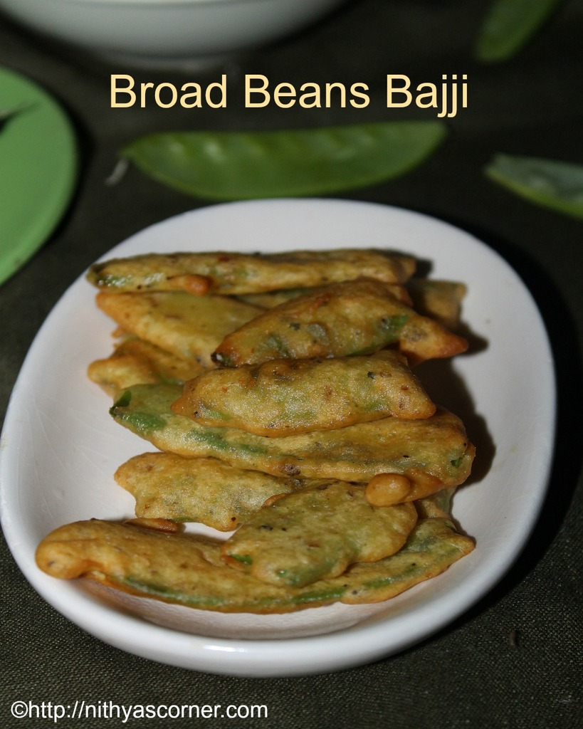 how to prepare broad beans bajji, broad beans recipes