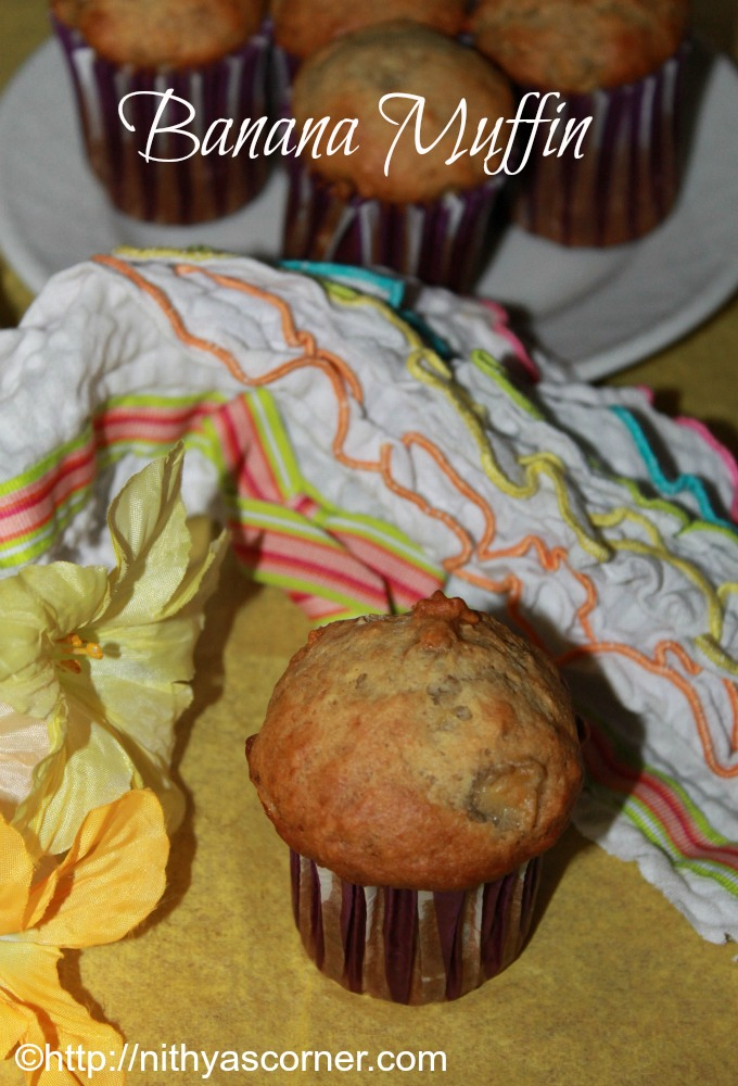 Banana muffins recipe, Easy banana muffins recipe