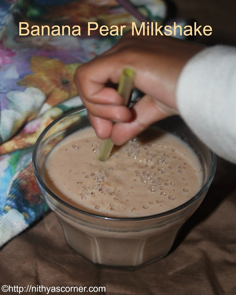 Banana Pear Milkshake Recipe