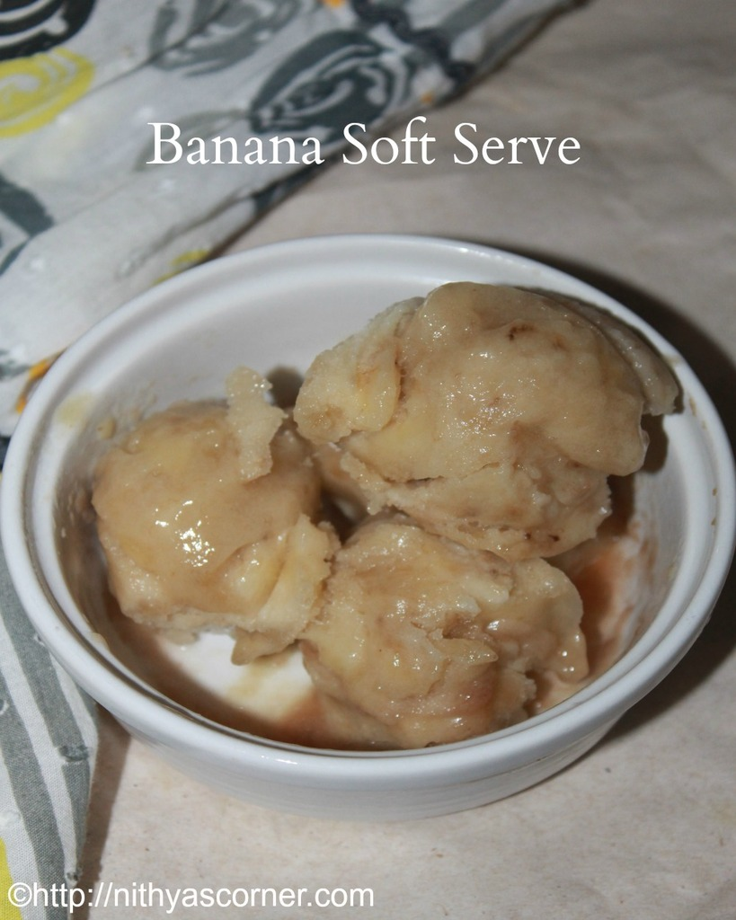 Banana soft serve recipe
