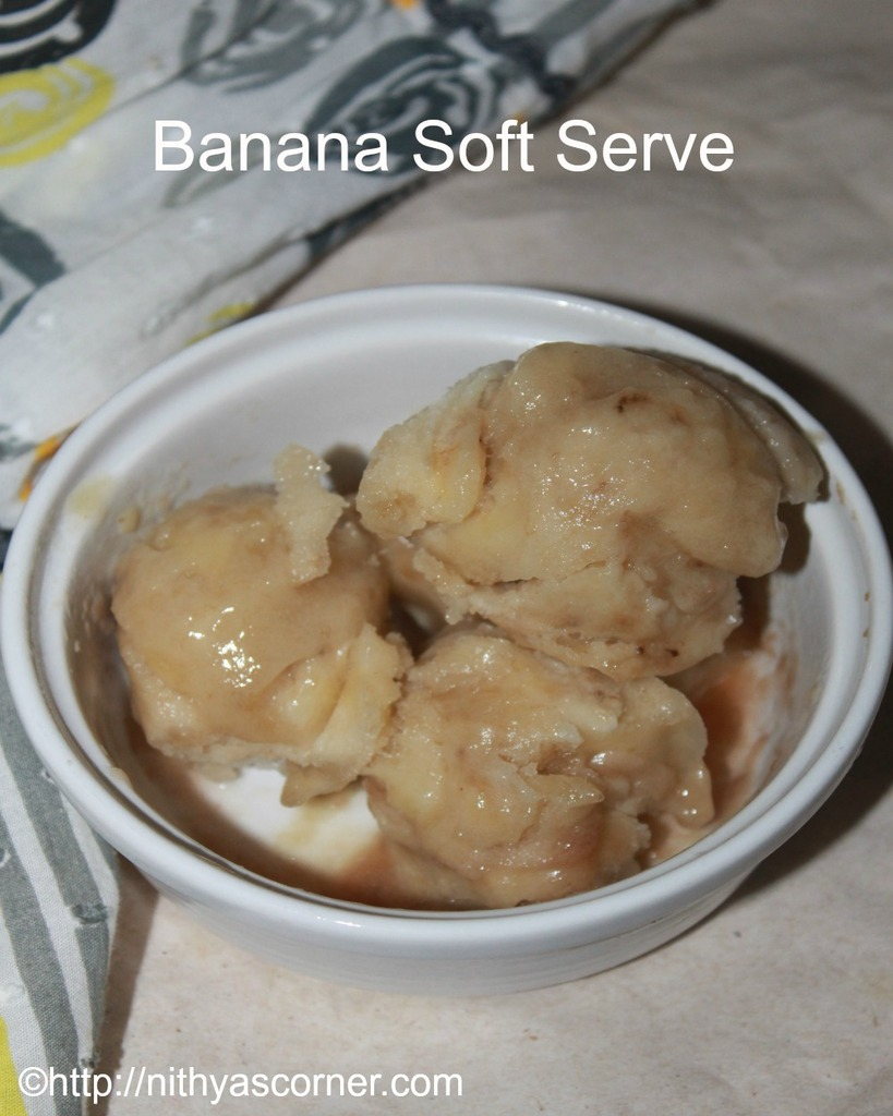 how to make banana soft serve recipe
