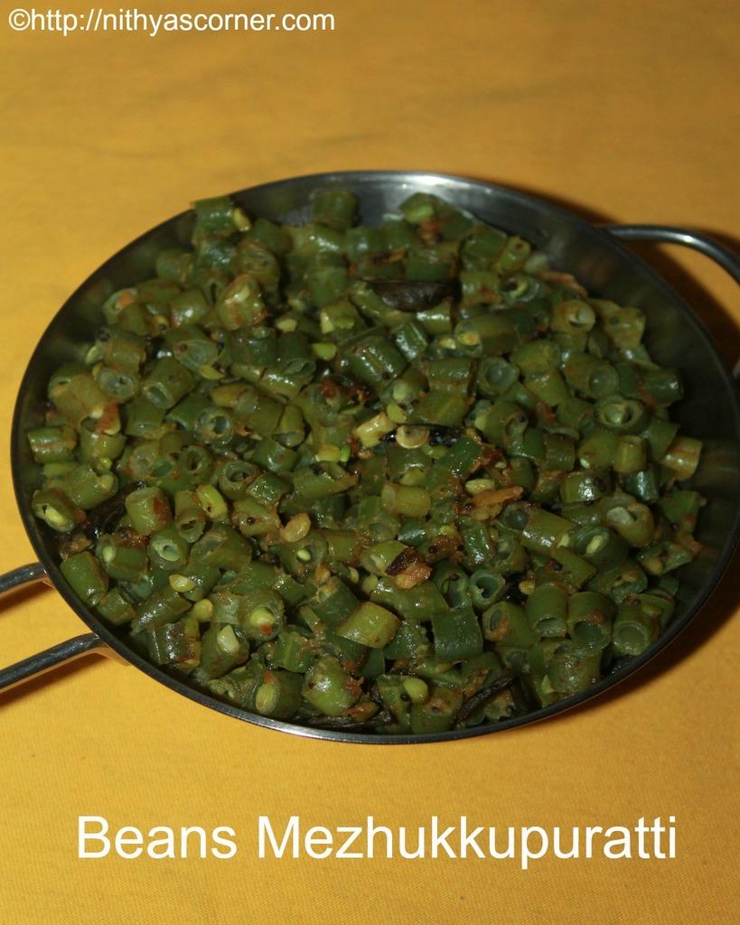 Beans Mezhukkupuratti,French Beans Stir Fry