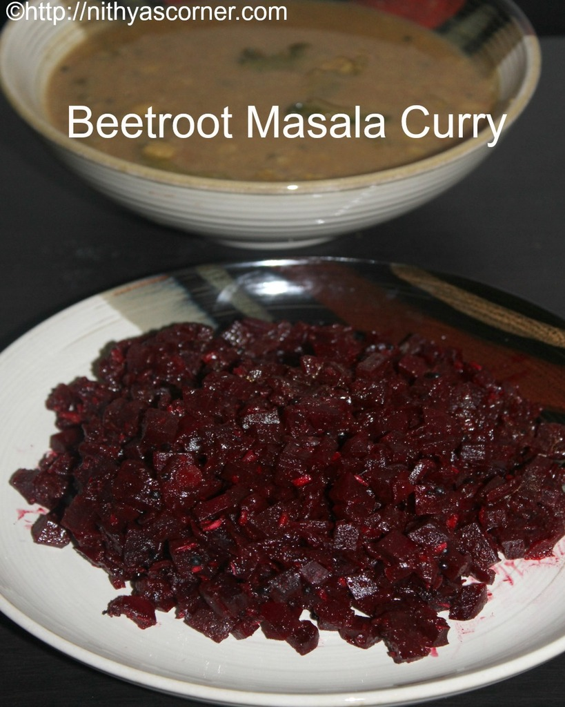 Beetroot masala curry, beetroot poriyal recipe