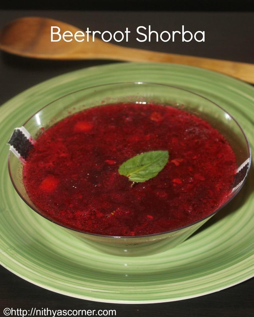 Beetroot shorba recipe,beetroot soup recipe