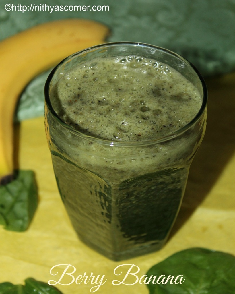 berry banana, green smoothie recipe