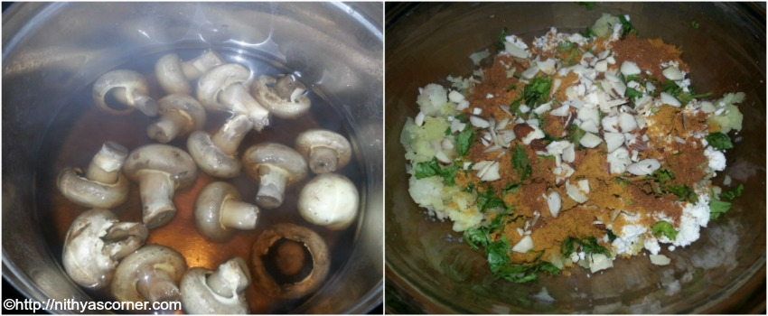 Stuffed mushroom recipe, bharwan tawa mushroom