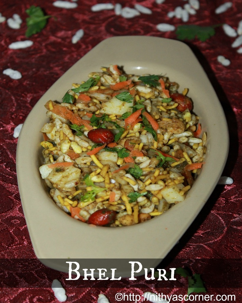 Bhel puri recipe, how to make bhel poori step by step
