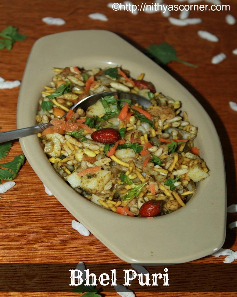 bhel puri, bhel puri chaat recipe recipe