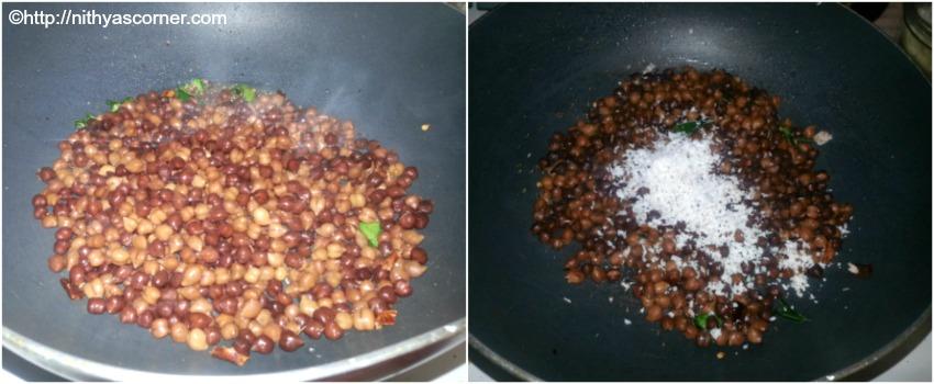 how to make kala channa sundal