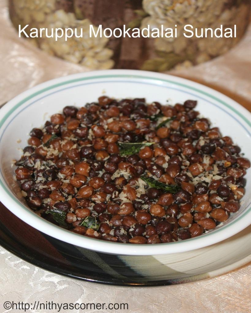 simple and easy karuppu mookadalai sundal