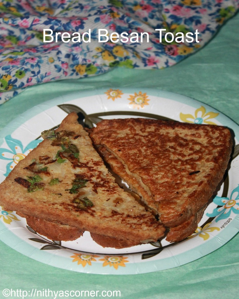 how to make bread besan toast recipe