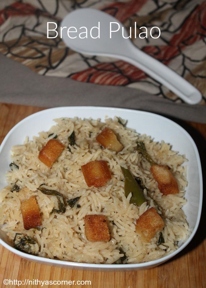 Easy bread pulao recipe