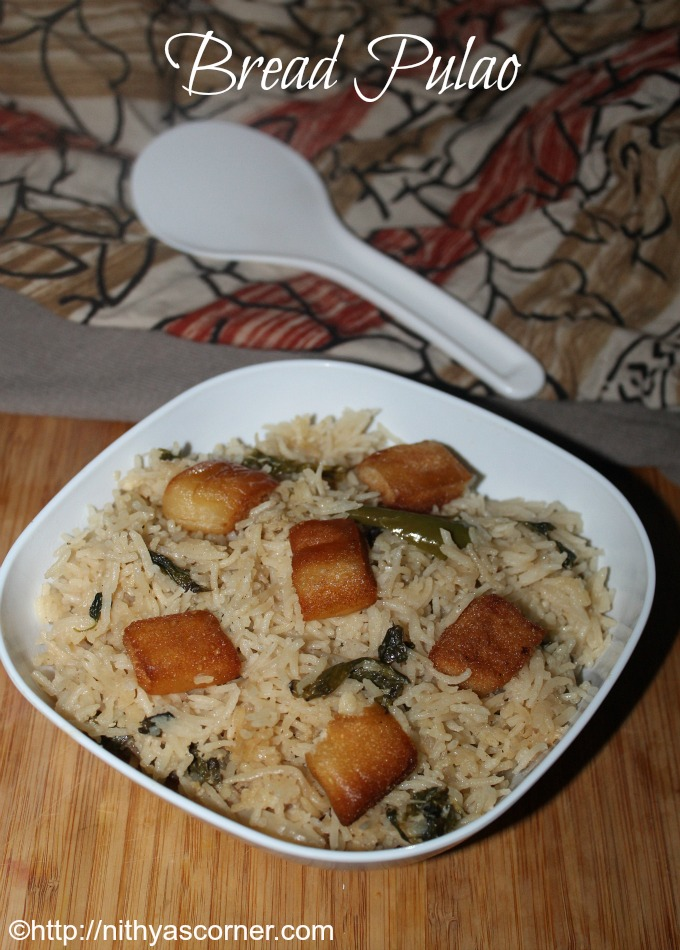 Simple bread pulao recipe