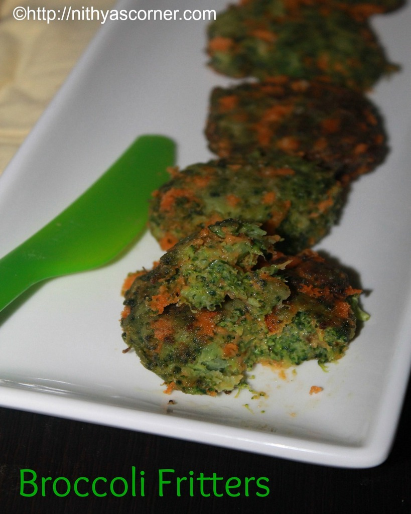 Broccoli fritters recipe with stepwise pictures