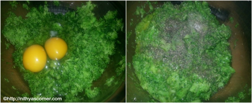 Broccoli fritters recipe with step by step pictures