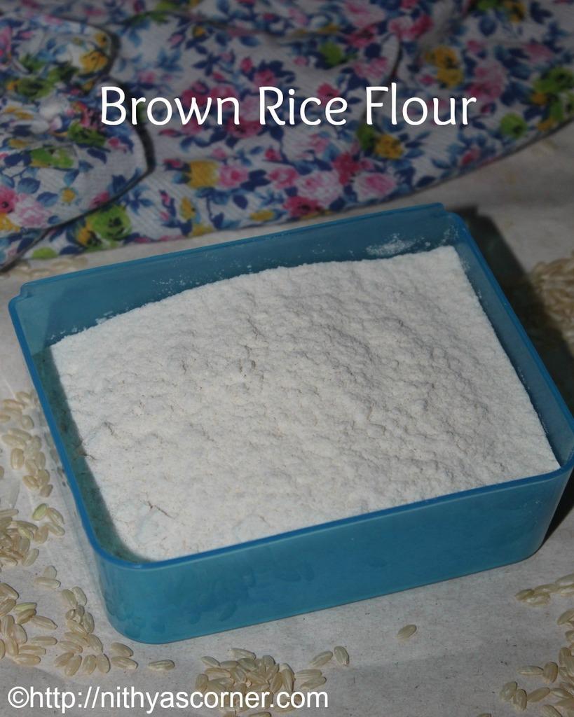 brown rice flour - gluten free substitut