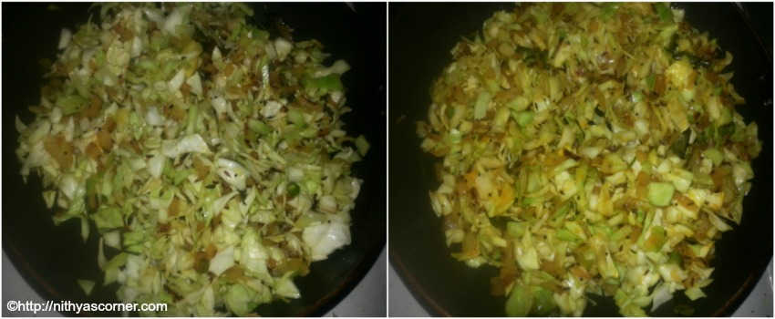 Cabbage stir fry recipe, cabbage poriyal, cabbage curry