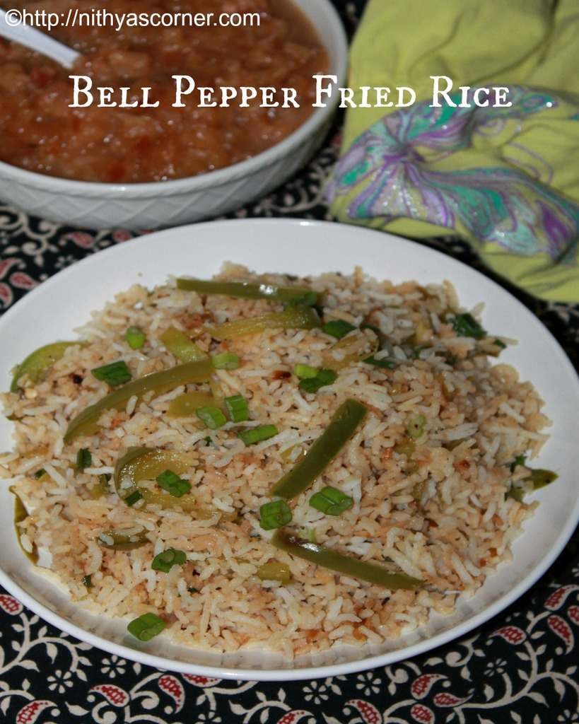 how to make capsicum fried rice recipe