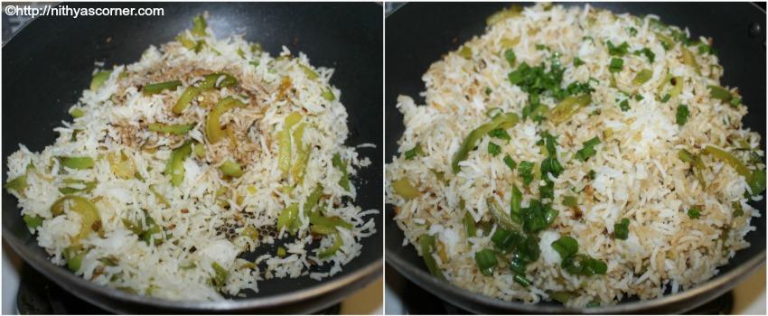 simple and easy kudai milagai sadam recipe