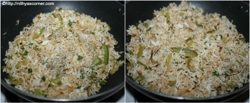Capsicum fried rice recipe with pictures