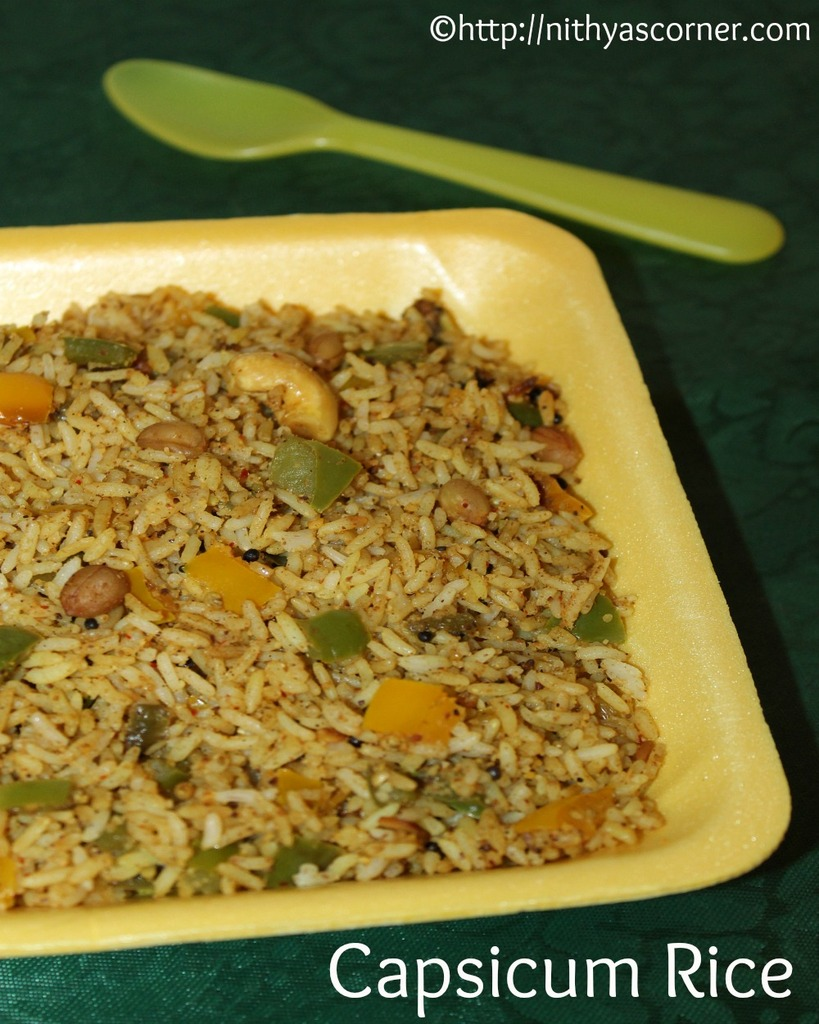 How to make capsicum masala rice