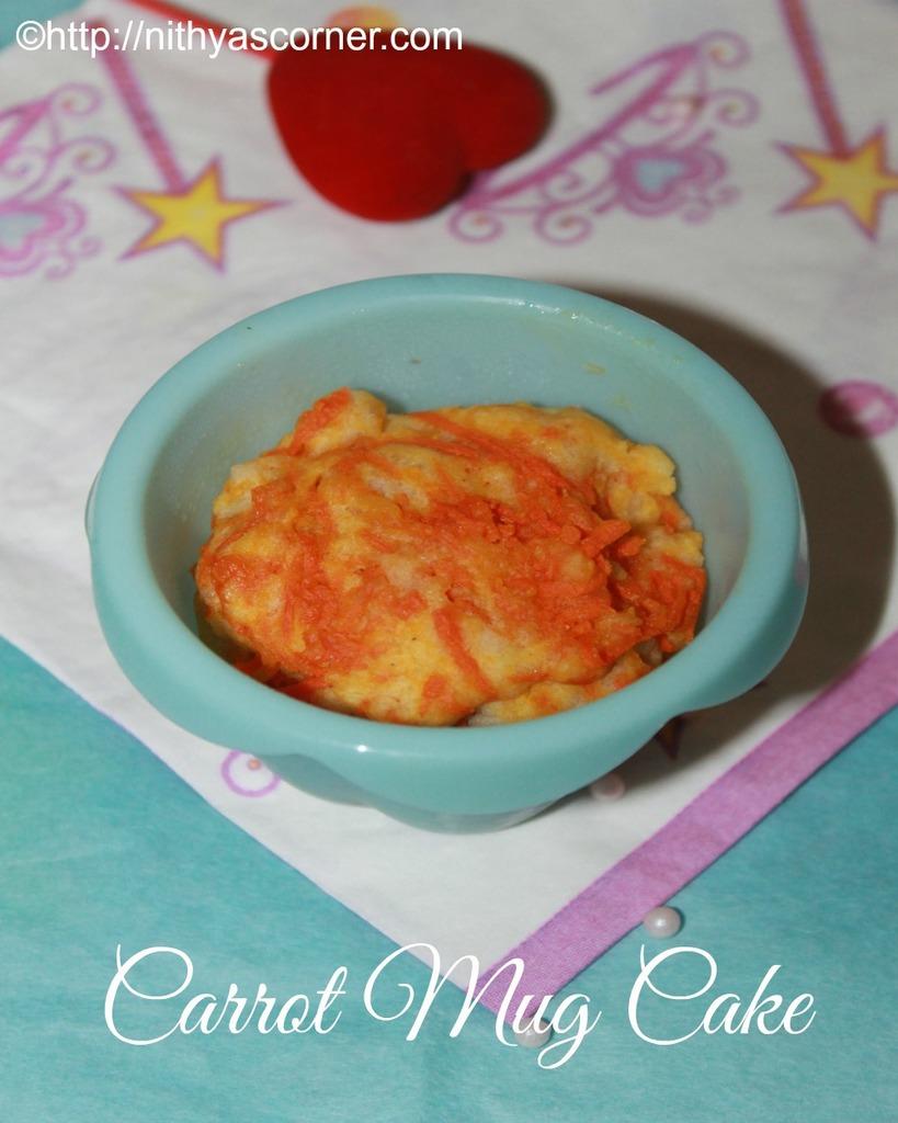 how to make carrot mug cake recipe