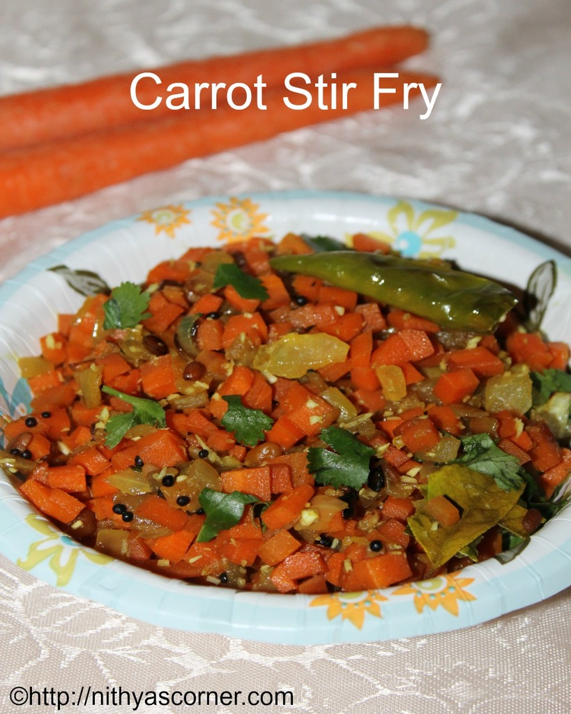 easy carrot stir fry