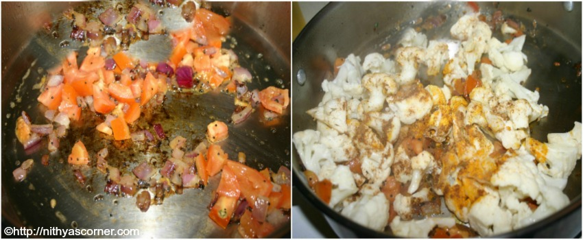 Cauliflower stir fry recipe, cauliflower poriyal