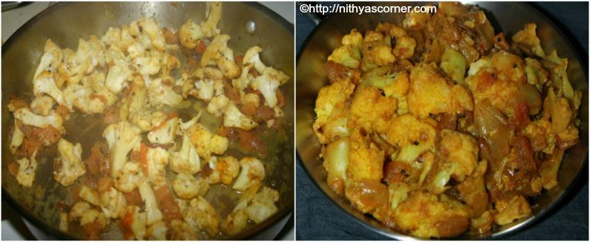 Cauliflower stir fry recipe, cauliflower poriyal