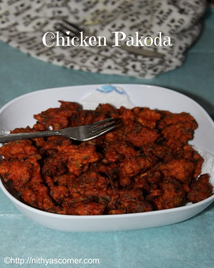chicken pakora,how to make chicken pakora