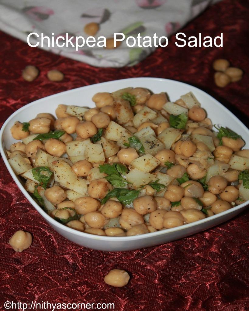 how to make indian chickpeas potato salad