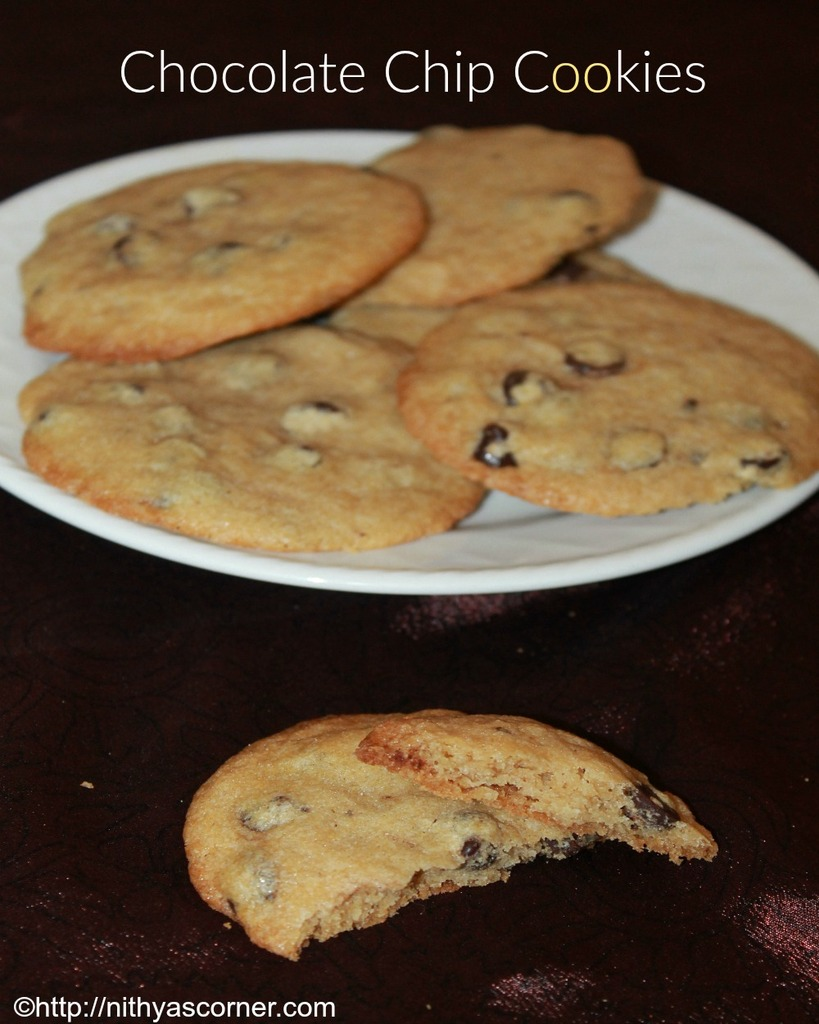 Chocolate chip cookies recipe, soft and easy chocolate chip cookies