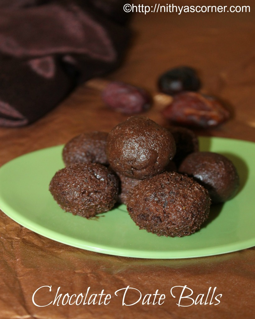 simple and easy chocolate date balls