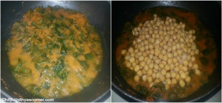 Chole Palak Recipe,Palak Chole,Chana Palak