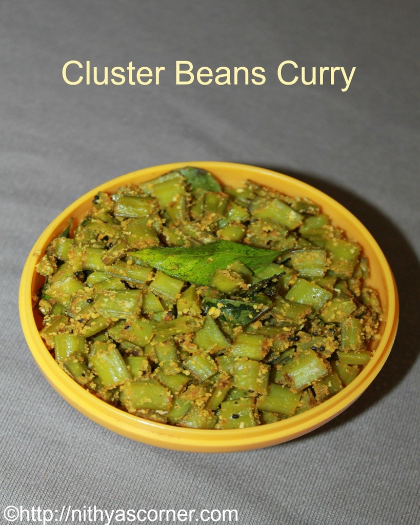 Cluster beans curry, kothavarangai poriyal recipe