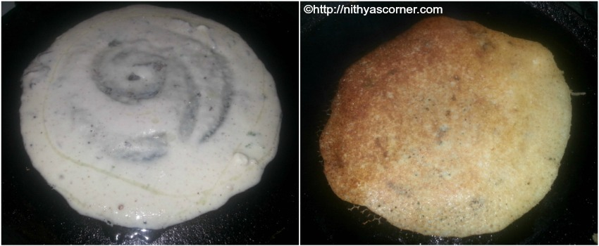 Coconut chutney dosa, leftover coconut chutney recipe