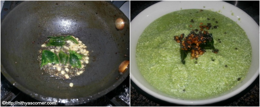 simple and easy coriander coconut chutney wth stepwise pictures