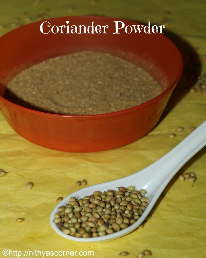 how to make coriander powder at home