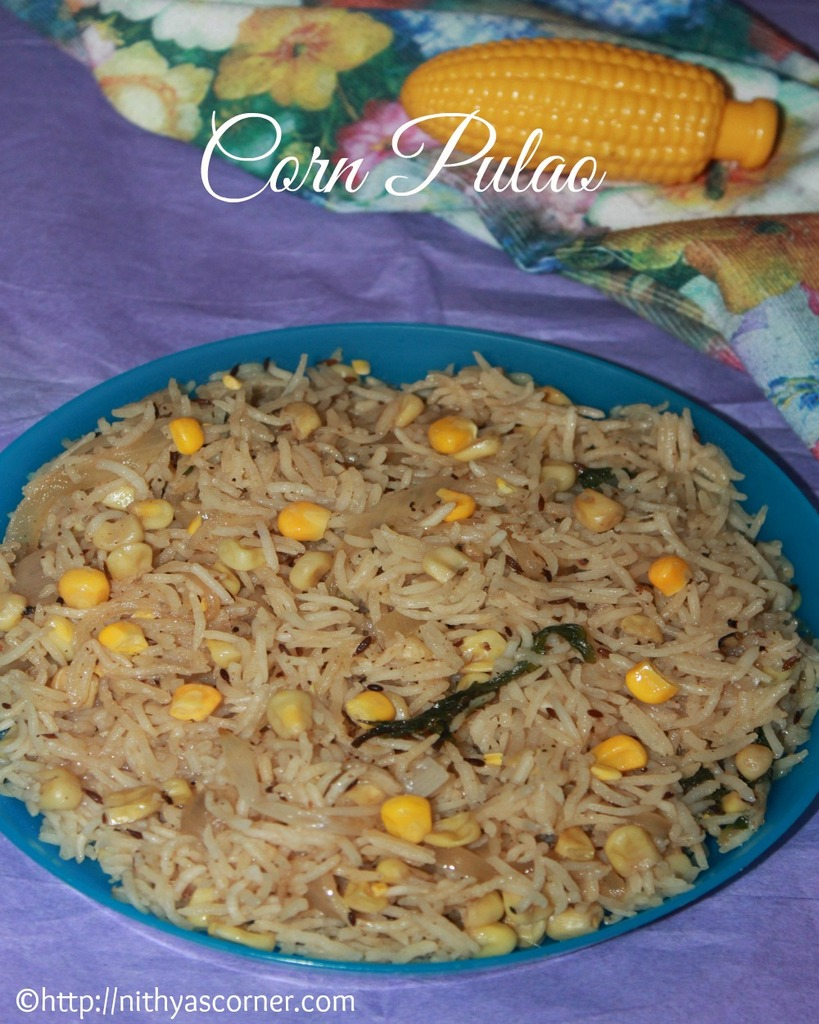 corn pulao recipe, how to make corn pulao