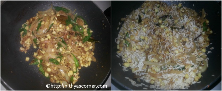 corn pulao south indian recipe