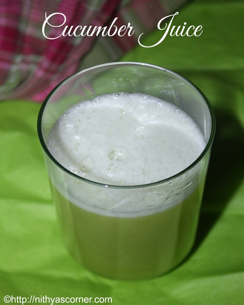 Cucumber Juice Recipe,Vellarikkai Juice