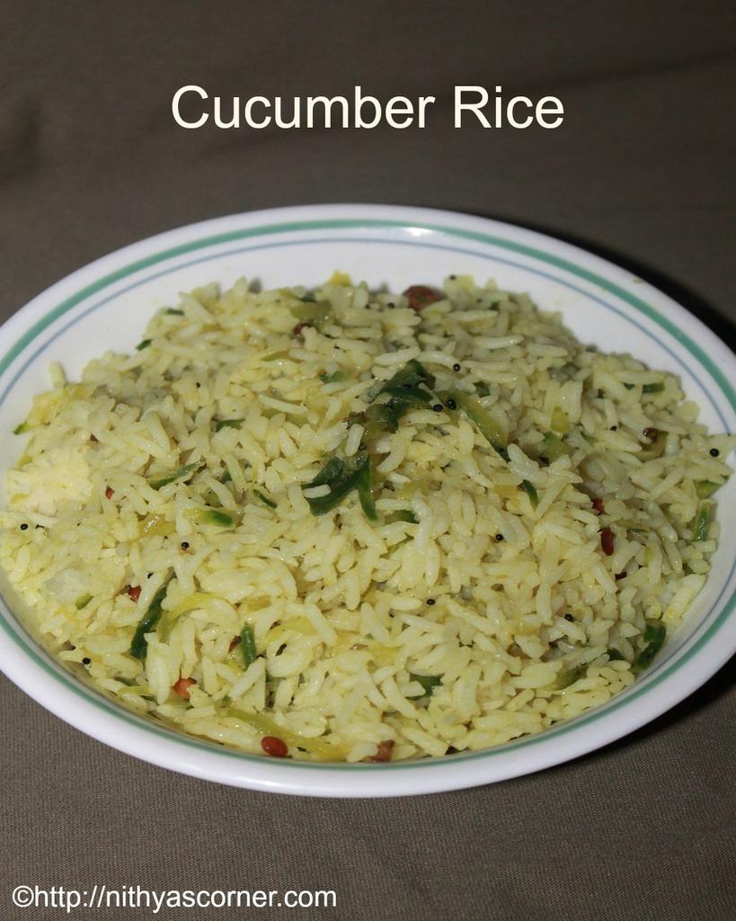 Cucumber rice recipe, vellarikai sadam recipe