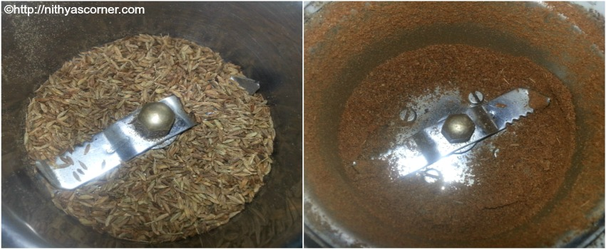 jeera powder with stepwise pictures