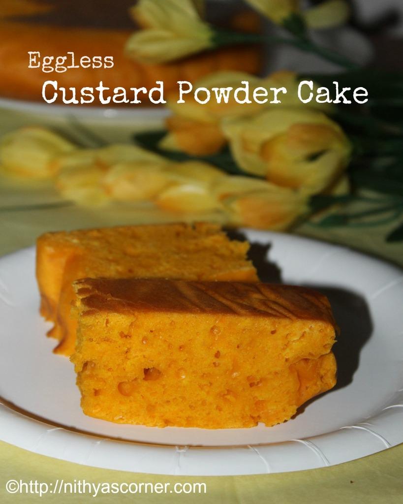 Custard powder snack cake