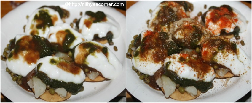dahi papdi chaat with step by step pictures