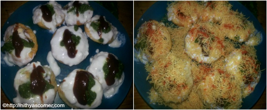 Dahi Sev Poori with step by step pictures