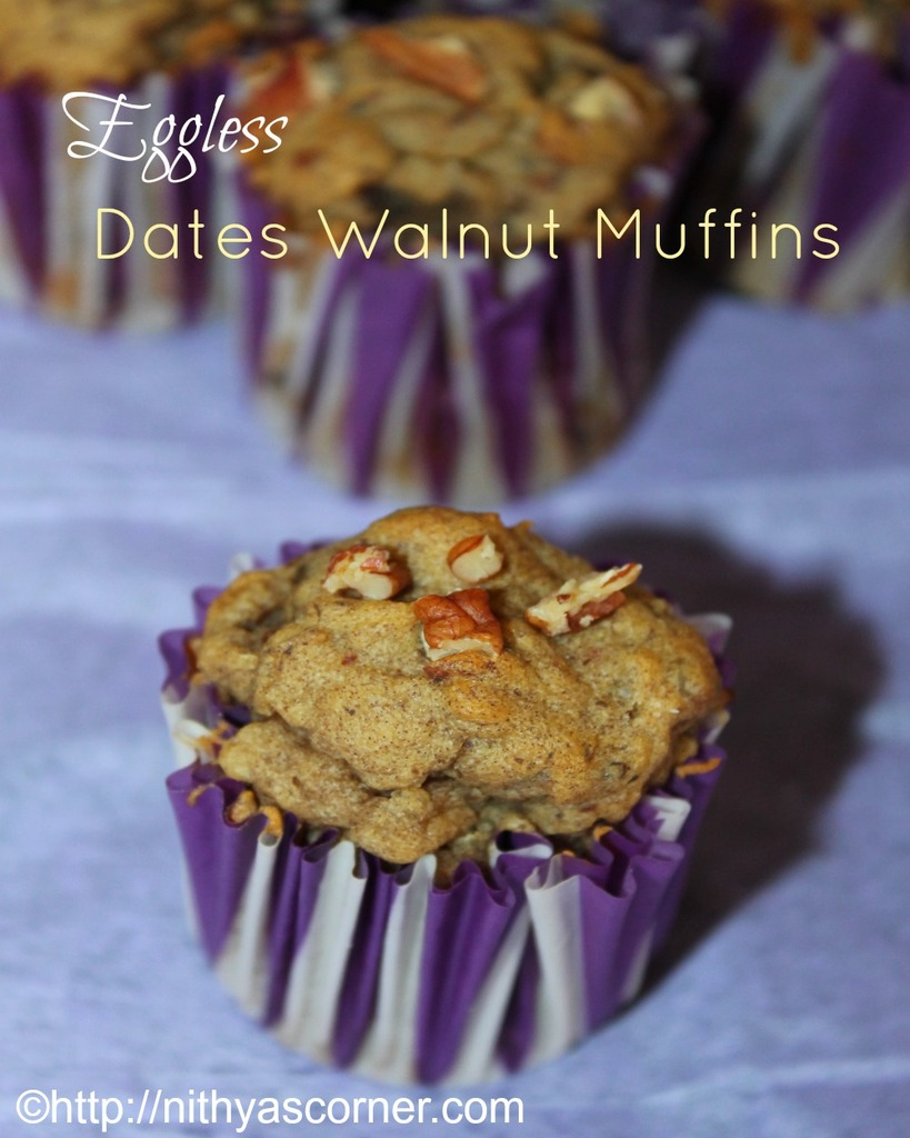 Dates walnut muffins recipe