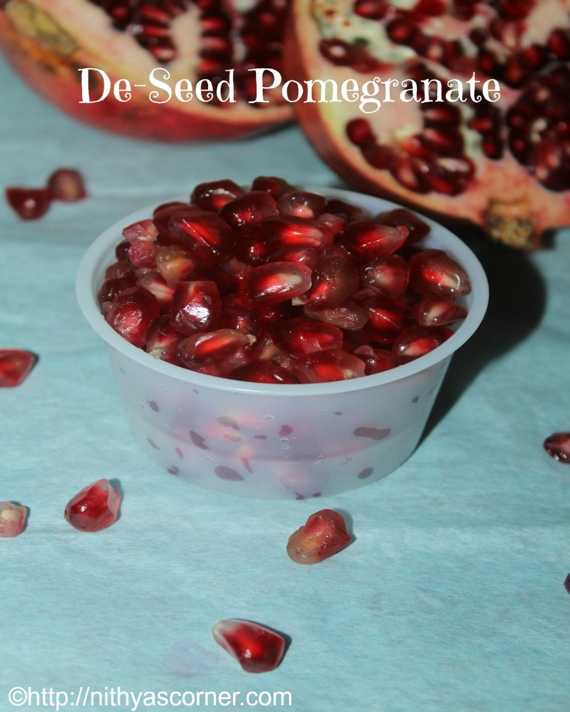 how to cut and extract pomegranate kernals