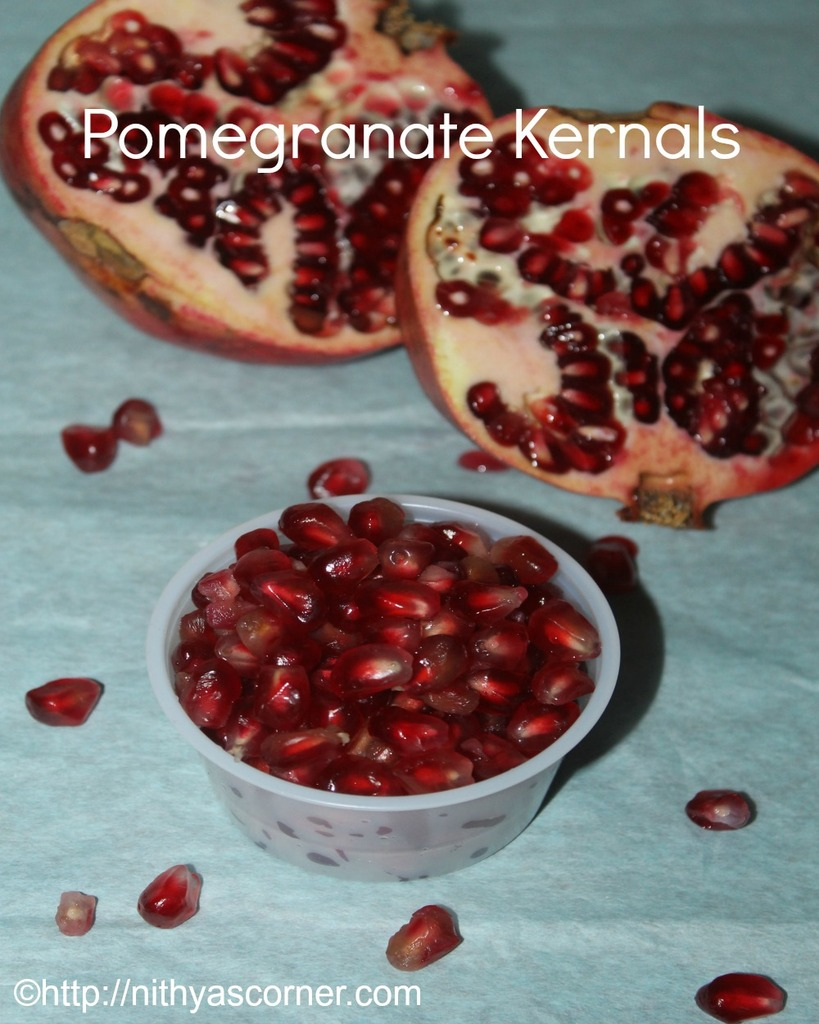 deseed a pomegranate easily